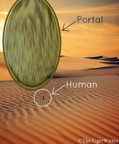 A portal in the First Ring compared to Human legal