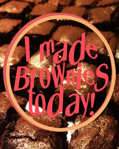 I made brownies today legal cover