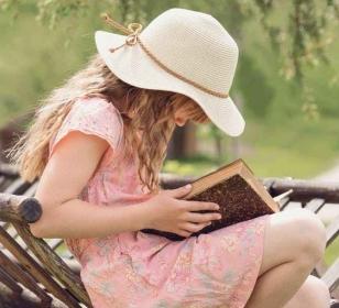 book girl grass hat