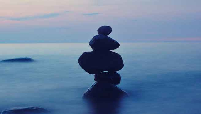 balance ocean relaxation rock balancing